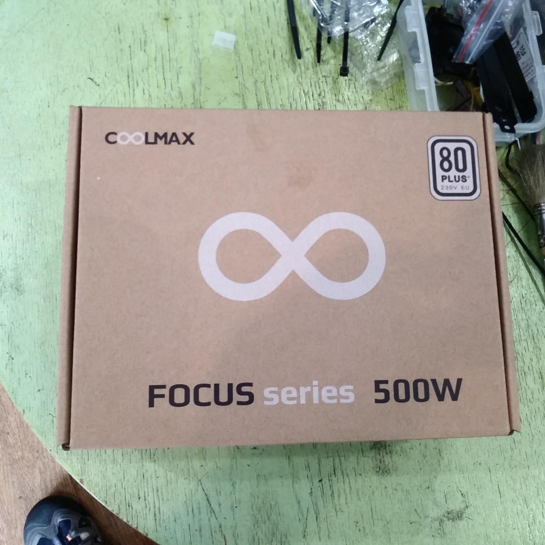 기본에 충실한 파워 COOLMAX FOCUS 500W 80Plus 230V EU