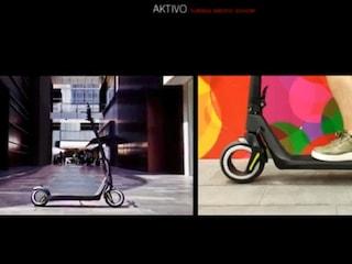 비어있는 바퀴의 전동 킥보드 'AKTIVO'