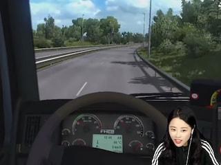 트럭으로 여직원 운전연수 시키기