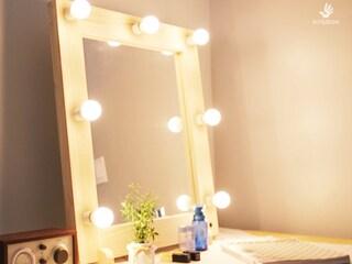 연예인조명 거울 만들기 베이직형 조립 방법