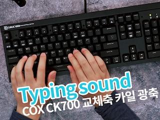 [ASMR] COX CK700 키보드 치는 소리 [키덕키덕]