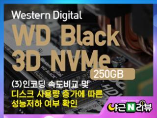 WD Black 3D NVMe SSD (250GB) : (3)인코딩 속도 비교 및 디스크 사용량 증가에 따른 성능저하 여부 확인
