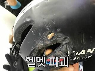 [사고영상] 3뚝도 한방에! 자전거 탈때 헬멧 꼭 쓰세요!