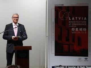라트비아 대사관 - 수림아트센터 공동주최 '라트비아, 융합의 건축' 사진전 개막식