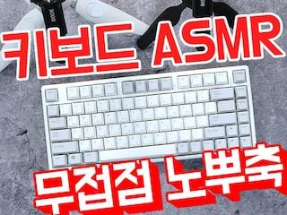 [ASMR] 한성컴퓨터 GK888B 무접점 (노뿌축) 키보드 치는 소리 [키덕키덕]