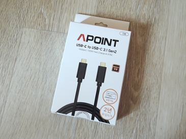 APOINT USB 3.1 Gen 2 Type C to C 케이블 간단 사용기
