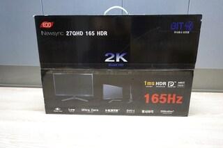 깔끔한 디자인 2K QHD 모니터! 비트엠 Newsync 27QHD 165 HDR 모니터