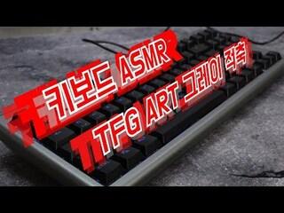 [ASMR] 한성컴퓨터 TFG ART (그레이, 적축) 키보드 치는 소리 [키덕키덕]