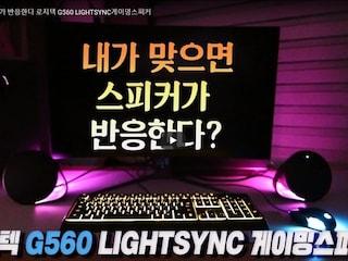 내가 맞으면 스피커가 반응한다 로지텍 G560 LIGHTSYNC게이밍스피커