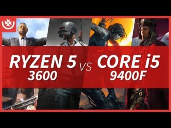 라이젠5 3600 vs 코어i5 9400F - 라이젠 3세대! 게임 4종 프레임 벤치마크