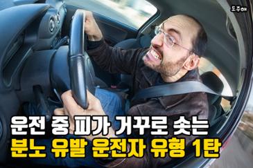 운전 중 피가 거꾸로 솟는 분노 유발 운전자 유형 1탄