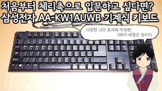 처음부터 체리축으로 입문하고 싶다면? 삼성전자 AA-KW1AUWB 기계식 키보드