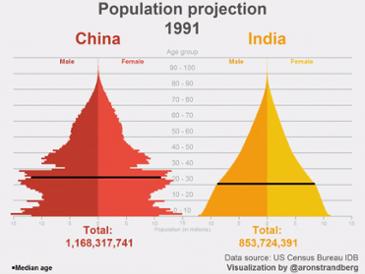 인도와 중국의 향후 인구변화