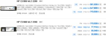 HP EX950 M.2 2280 NVMe SSD 국내 출시