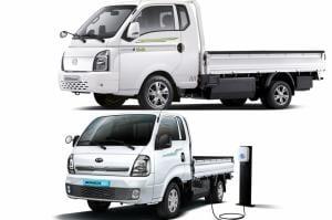 친환경 슈퍼 전기트럭 맞대결… 포터II 일렉트릭 Vs 봉고3 EV