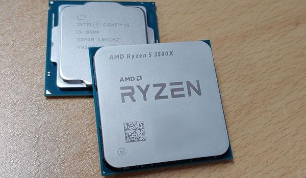 라이젠 3500X vs 인텔 9500