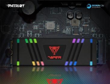 서린씨앤아이, RGB 조명 지원 M.2 SSD '패트리어트 바이퍼 VPR100' 정식 출시