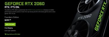 엔비디아, Radeon RX 5600 XT 출시에 앞서 Georce RTX 2060 가격 인하 발표