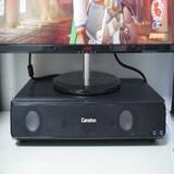 모니터받침대 + 2.1채널 스피커 캔스톤 H300 사운드 테이블