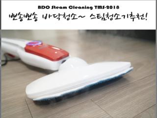 뽀송뽀송 바닥청소 필수템! BDO 원터치 스팀청소기로 청소해요.