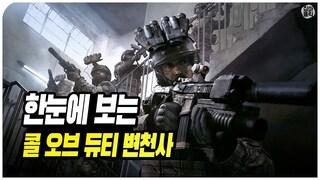 한눈에 보는 콜 오브 듀티 시리즈 변천사 (20032019) Evolution of Call of Duty