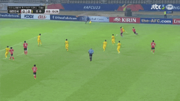 AFC U-23 4강 한국 vs 호주 골장면