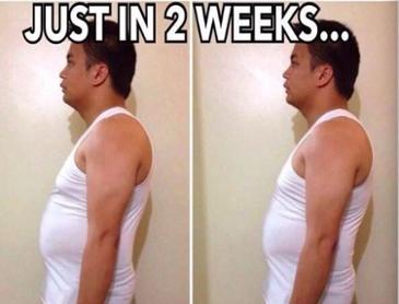 2주동안 몸에 생긴 변화