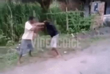 1 대 2 싸움