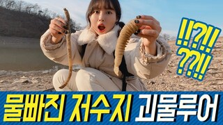 물빠진 저수지 괴물루어들  giant worms in the deflated reservoir