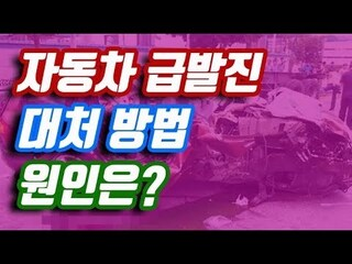 자동차 급발진 대처 방법은?  급발진의 원인은?