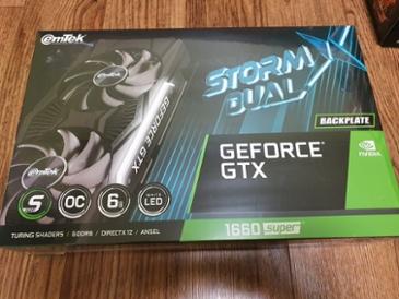 [구매인증]이엠텍 지포스 GTX 1660 SUPER STORM X Dual OC D6 6GB