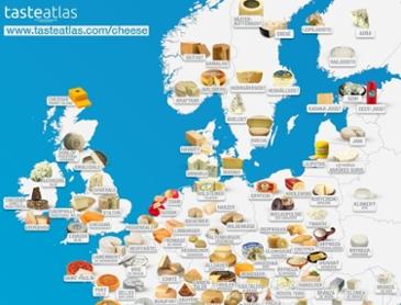유럽 치즈 지도