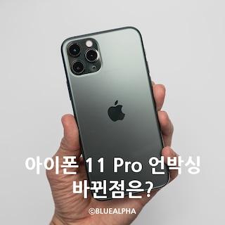 아이폰 11 Pro 미드나잇 그린 언박싱, 아이폰XS Max 비교 (고속충전 전압테스트)