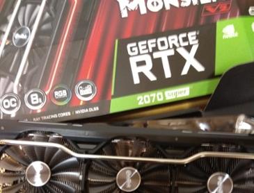 이엠텍 HV 지포스 RTX 2070 SUPER BLACK MONSTER V2 OC D6 8GB 구매인증!!
