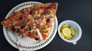 점심으로 피자!