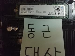 가성비 최고인 NVME SSD 삼성 PM981 입니다.