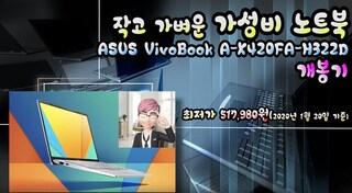 작고 가벼운 가성비 노트북 ASUS VivoBook A-X420FA-H322D 개봉기