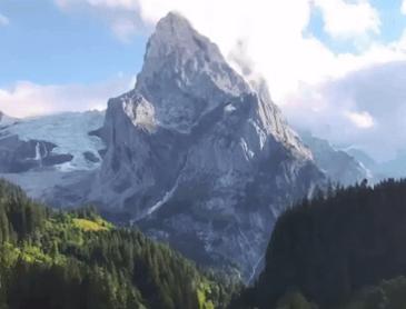 스위스의 빙하 협곡