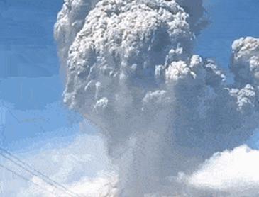인도네시아 화산폭발 현장