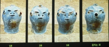 발굴된 항아리의 모습