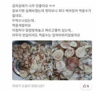 5천원 강원도 감자 후기들