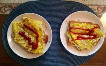 [먹거리 소개# 268] 마눌님께서 휴일 아침으로 만들어주신 길거리 토스트