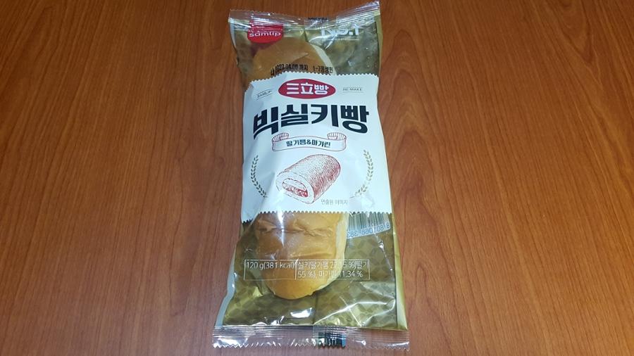 딸기잼과 마가린이 많이 들어 있는 삼립 '빅실키빵'