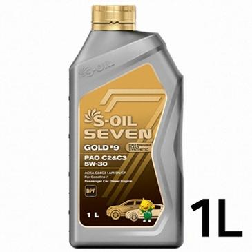 [▼22%] S-OIL 엔진오일 최고급 라인! 세븐골드 #9 PAO 5W30 1리터 4,950원 최저가!!!