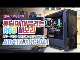 튜닝의 마무리는 RGB 메모리 - ADATA XPG D41