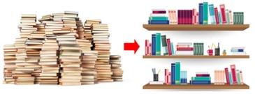 '그 책 어디뒀더라..' 어지러운 책장, 한눈에 관리하는 법