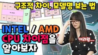 INTEL과 AMD CPU의 차이점! / 모델명 보는법, CPU의 구조적 차이 [브로리퀘스트]