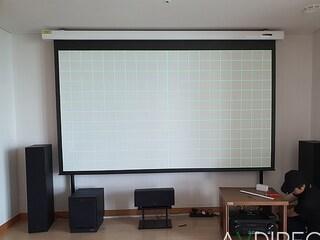 옵토마 SUHD61 4K 프로젝터,120인치 전동 스크린,데논 AVR-X2600H,클립쉬 R620F+R52C+R41M+R100SW 홈시어터스피커 오토폴 방문 설치기