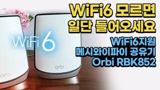 속도 또 떡상?! WiFi6 지원 메시와이파이 공유기 Orbi RBK852