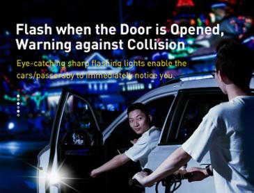 Baseus 자동차 도어오픈 경고등 led램프 ($4.68/무료배송)